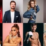 Let's Dance - Wer tanzt mit wem? V.l.: Nicolas Puschmann, Ilse DeLange, Jan Hofer, Erol Sander, Senna Gamour, Simon Zachenhuber und Lola Weippert