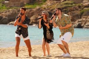 DSDS 2021 Recall-Finale - Lucas Lehnert, Michelle Patz und Marvin Frederic Ventura Estradas