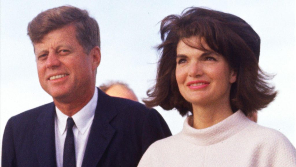 John F. Kennedy und seine Frau Jackie