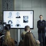 Die Brücke III - Sagas neue Chefin Linn (Maria Kulle) gibt eine Pressekonferenz über den Stand der Ermittlungen