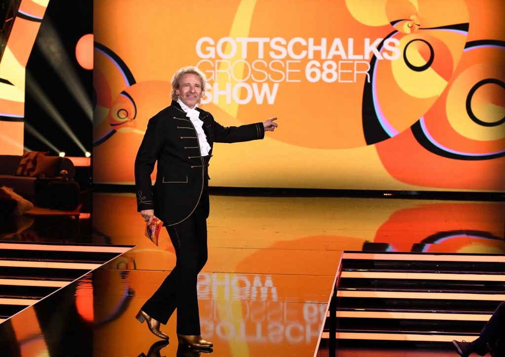 "Thomas Gottschalk präsentiert ""Gottschalks große 68er-Show""."