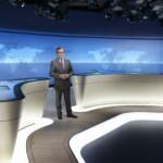 Neues tagesschau Studio 2014 - Jan Hofer im neuen Studio