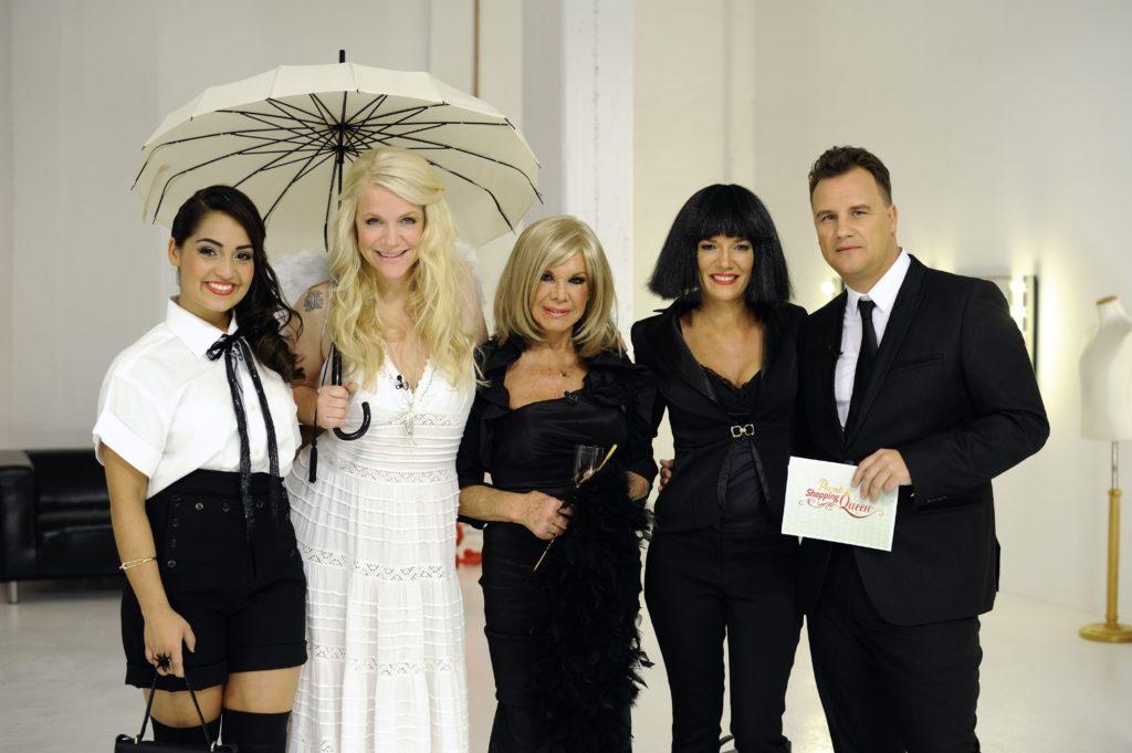 V.l.: Bahar Kizil, Charlotte Karlinder, Ingrid van Bergen, Jessica Stockmann, Star-Designer Guido Maria Kretschmer