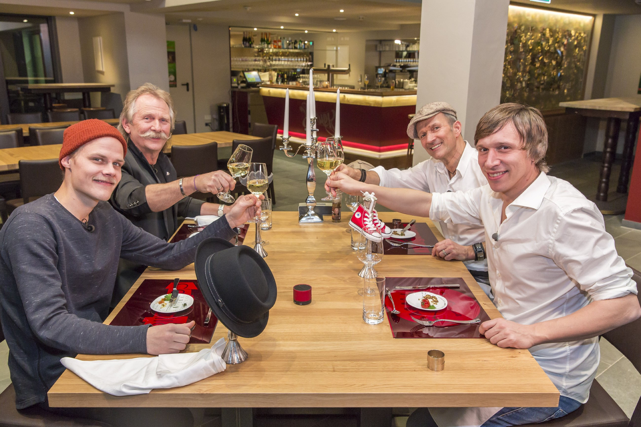 Promi Dinner - Oliver Niesen, Henning Krautmacher, Frank Reudenbach und Bastian Campmann