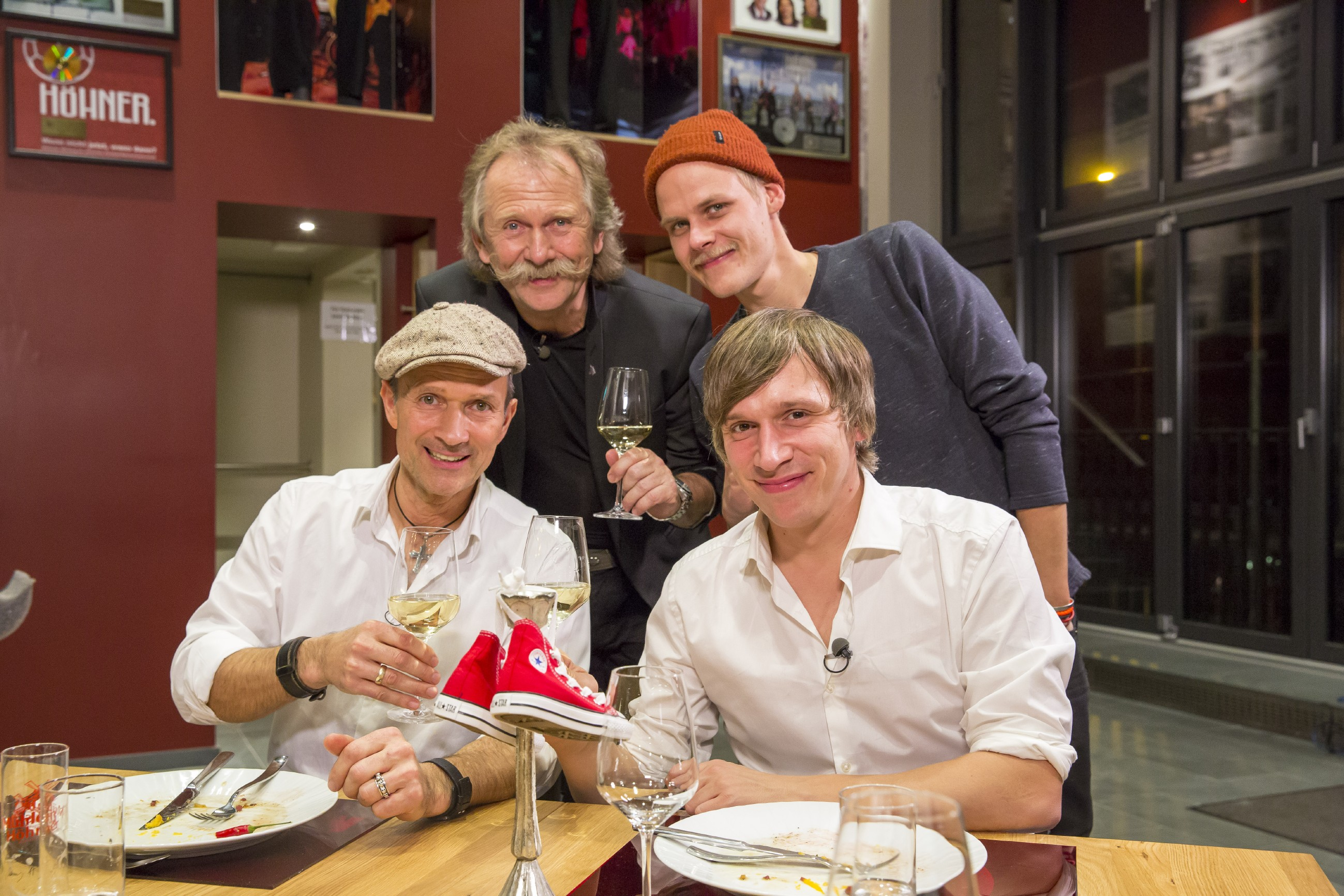 Promi Dinner - Frank Reudenbach, Henning Krautmacher, Oliver Niesen und Bastian Campmann