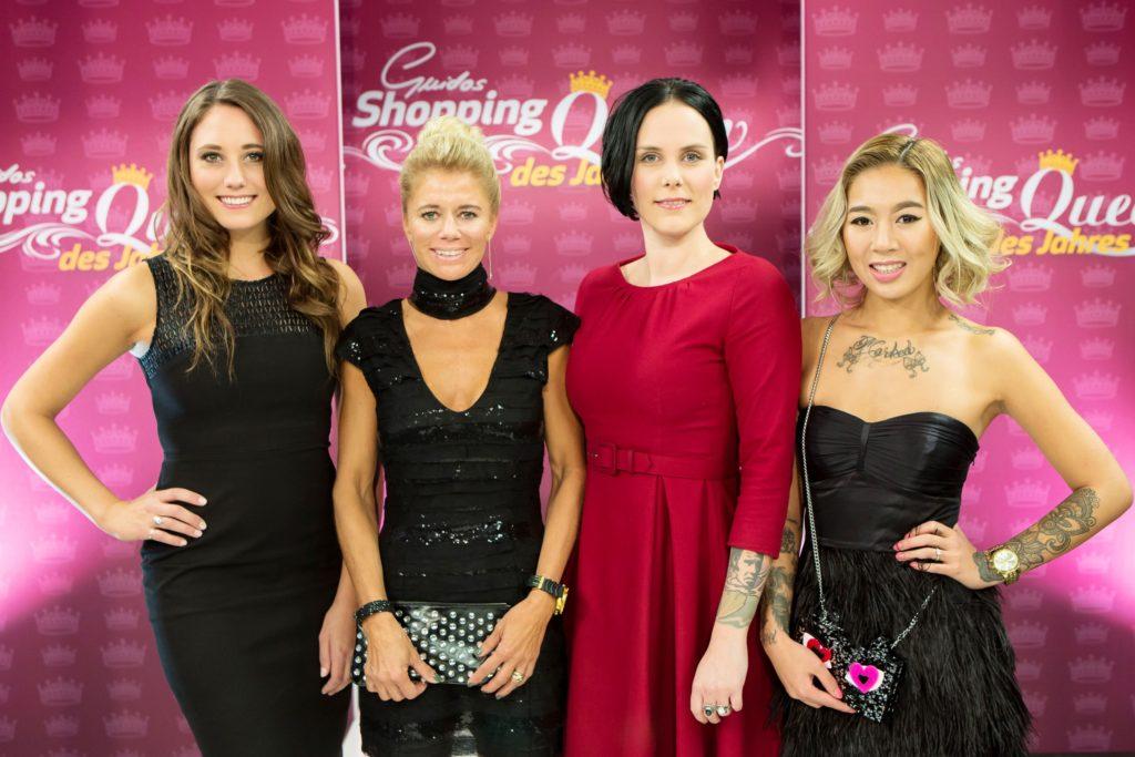 Von links: Karen Grubitzsch, Tina Klaus, Anne Martin und Kelly-Lynn Tran haben sich am Finaltag besonders hübsch angezogen!