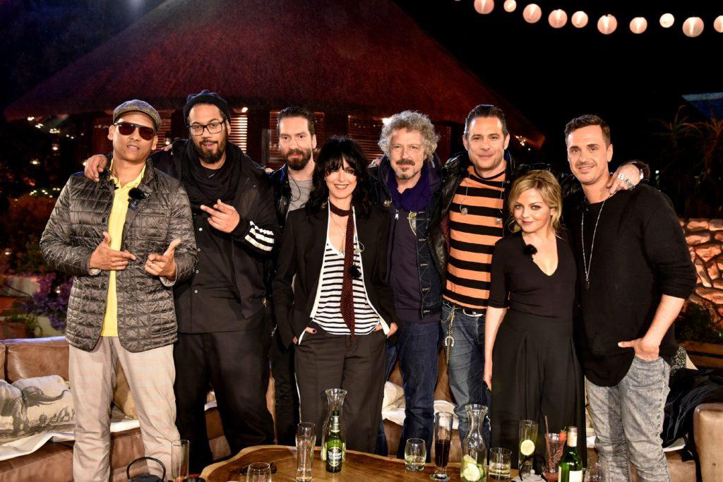 V.l.: Xavier Naidoo, Samy Deluxe, Alec Völkel, NENA, Wolfgang Niedecken, Sascha Vollmer, Annett Louisan, Seven