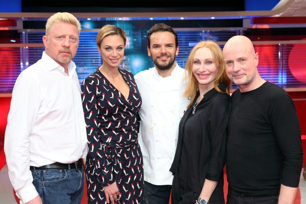 V.l.: Boris und Lilly Becker, Steffen Henssler, Andrea Sawatzki und Christian Berkel.