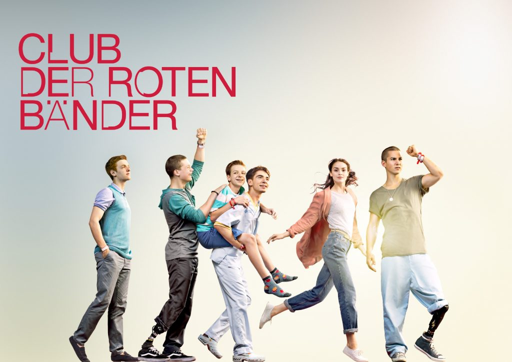 V.l.: Alex (Timur Bartels), Jonas (Damian Hardung), Hugo (Nick Julius Schuck), Toni (Ivo Kortlang), Emma (Luise Befort) und Leo (Tim Oliver Schultz)