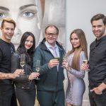 "Promi Dinner Dschungel Spezial 2017 -Florian Wess, Nicole Mieth, Markus Majowski, Gina-Lisa Lohfink und Alexander ""Honey"" Keen"