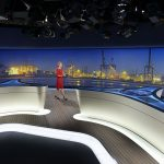 Neues tagesschau Studio 2014 - Caren Miosga im neuen Studio