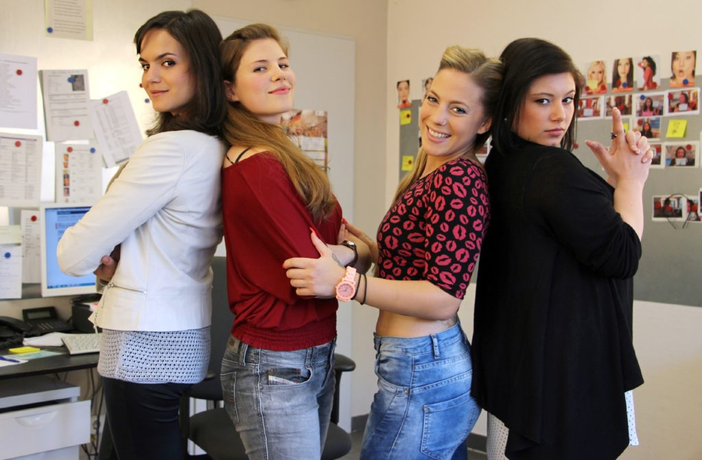 v.l.: Naima Fehrenbacher, Michèle Fichtner, Christina Klein und Julia Augustin