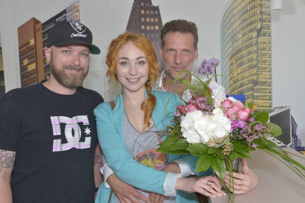 GZSZ-Producer Damian Lott, Anna Juliana Jaenner und Clemens Löhr