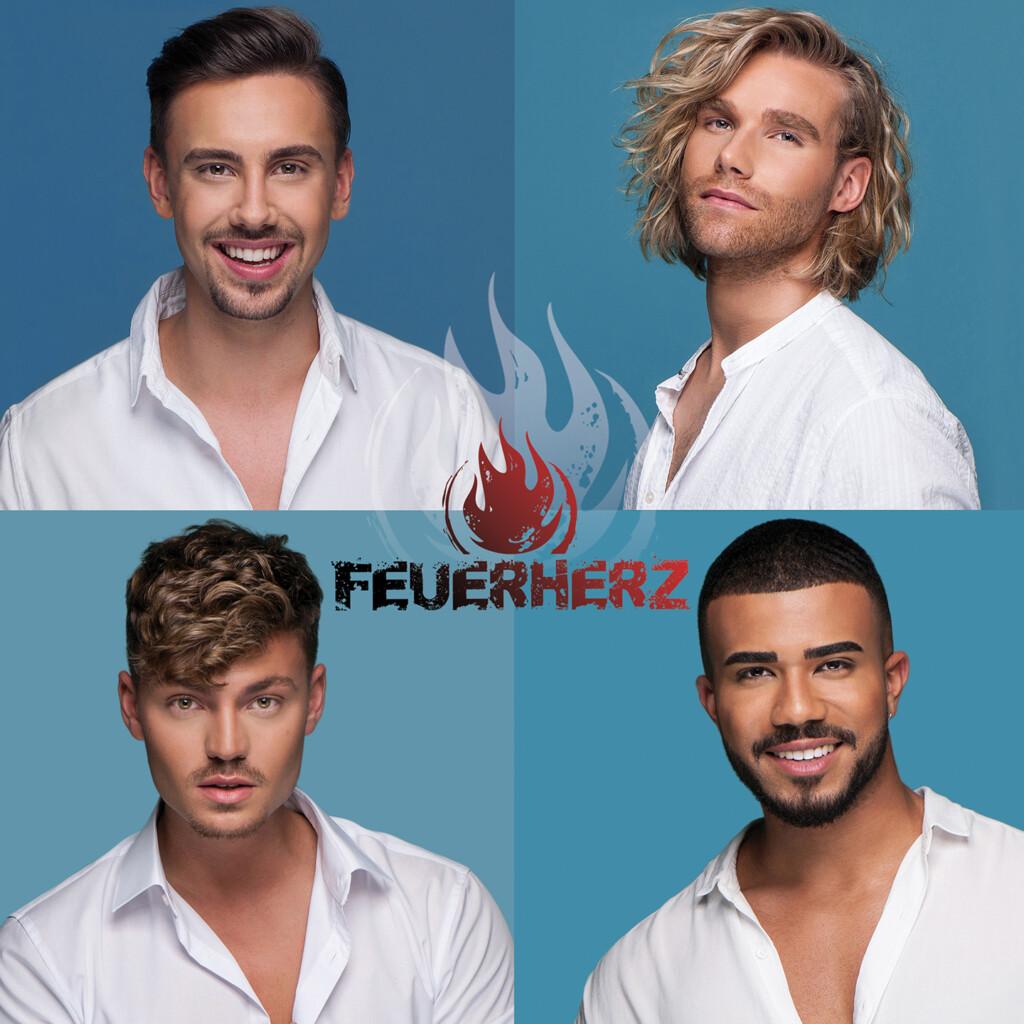 Feuerherz sind Dominique Baltas, Matt Stoffers, Karsten Walter und Sebastian Wurth.
