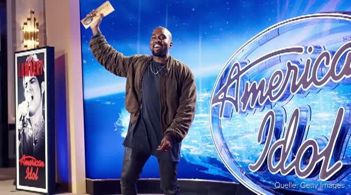 Kanye West überraschte beim amerikanischen DSDS