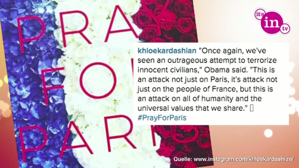 Stars reagieren auf die Anschläge in Paris