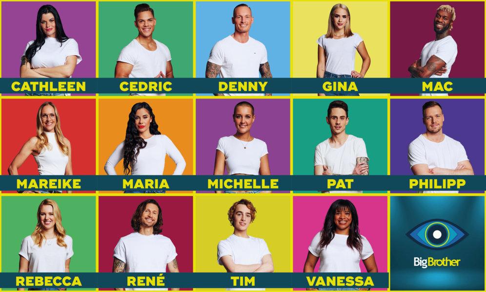 """Das sind die 14 Bewohner der 13. Staffel von """"Big Brother"""" in SAT.1."""