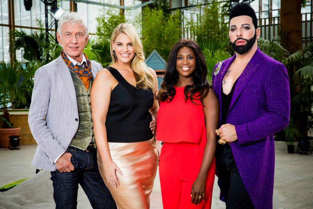 """Harald Glööckler, Motsi Mabuse, Angelina Kirsch und Ted Linow suchen das """"Curvy Supermodel"""" bei RTL II."""