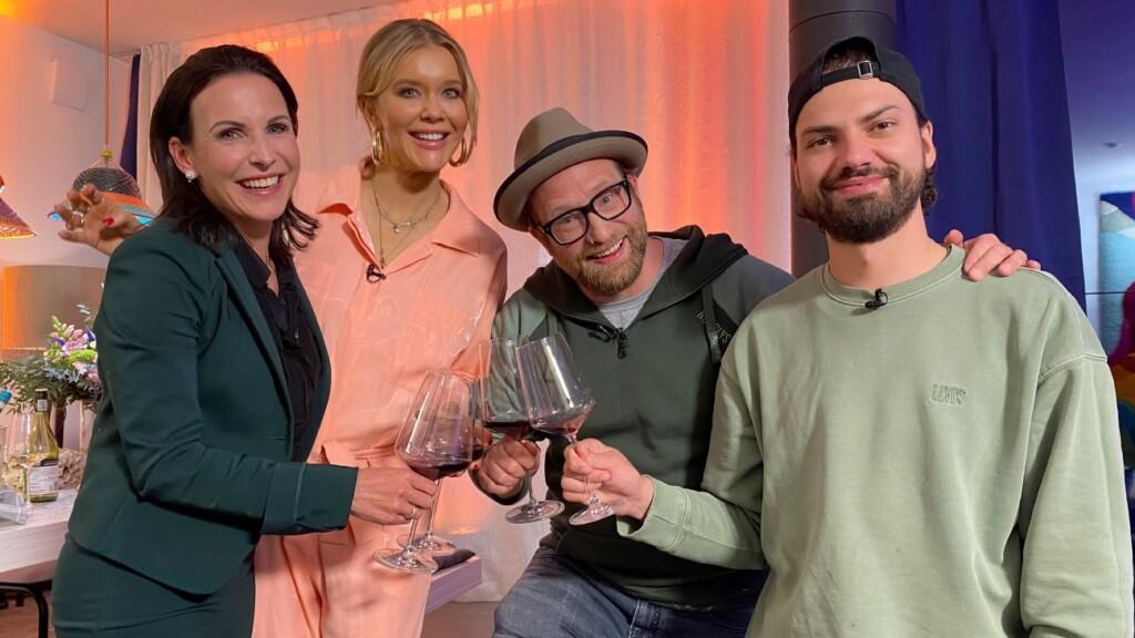 V.l.: Sabrina Mockenhaupt, Laura Karasek, Gregor Meyle und Jimi Blue Ochsenknecht.