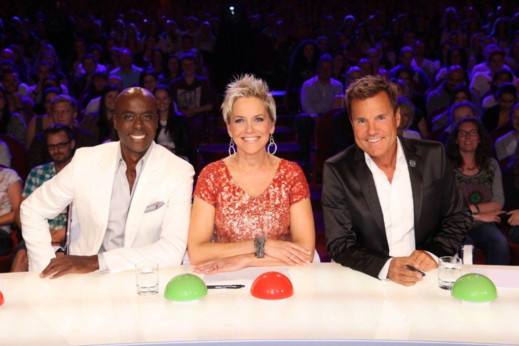 Die Supertalent-Jury: Bruce Darnell, Inka Bause und Dieter Bohlen (v.l.)
