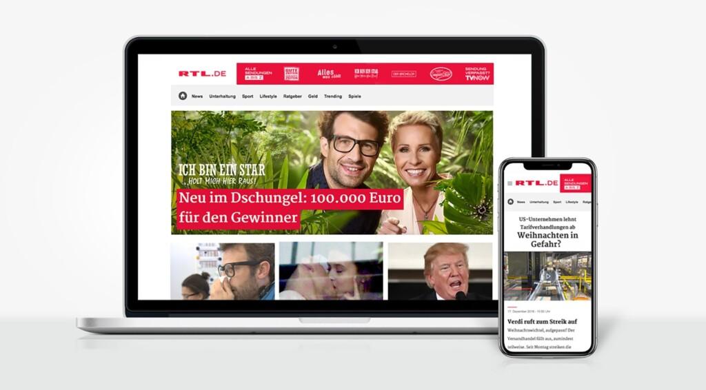 Aktuell, emotional, mutig, bunt, unverwechselbar und für die ganze Familie: Die Mediengruppe RTL Deutschland startet heute das neue General Interest Portal RTL.de.
