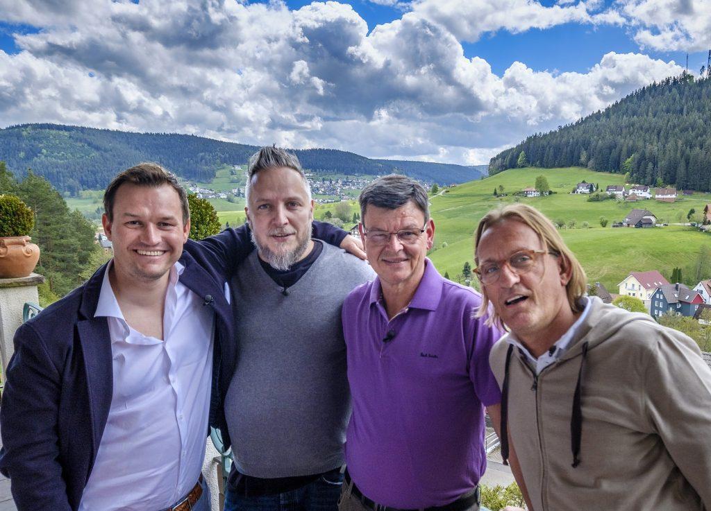 V.l.: Simon Tress, Christoph Brand, Harald Wohlfahrt, Frank Buchholz