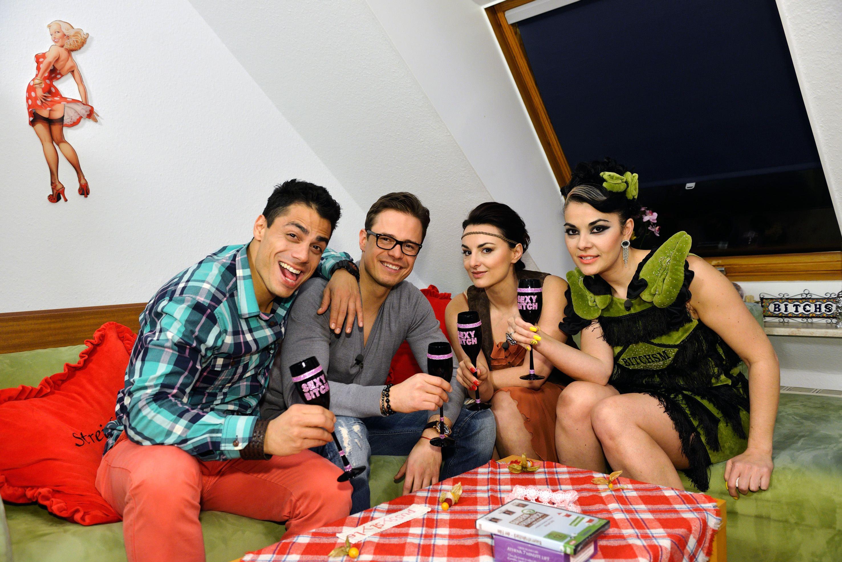 Silva Gonzales, Pete Dwojak, Miranda Leonhardt und Gastgeberin Lady Bitch Ray.