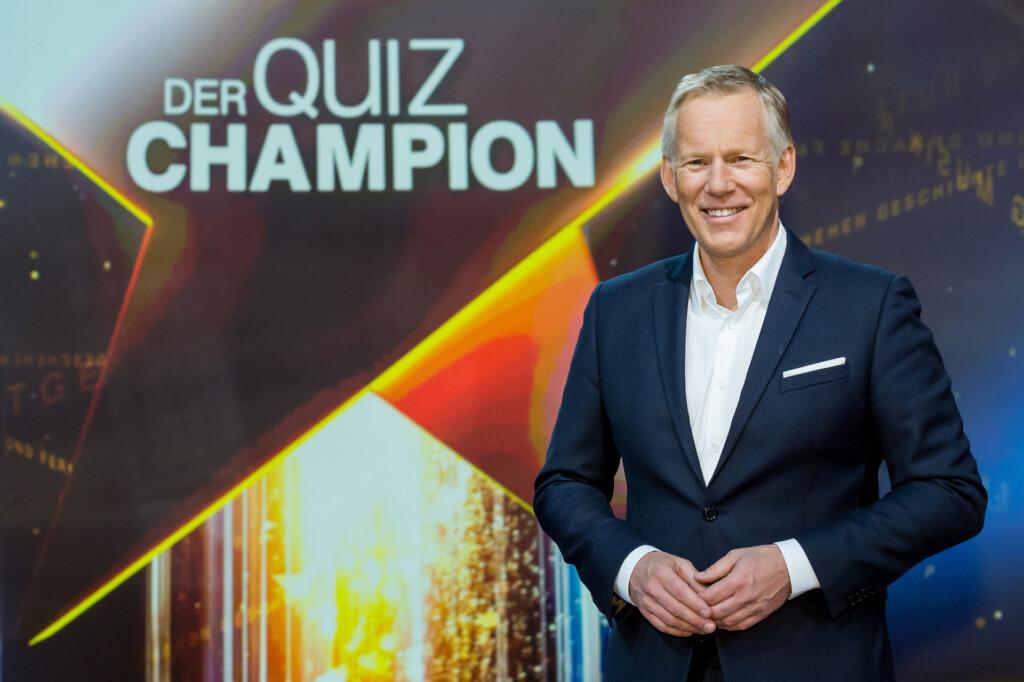 """Johannes B. Kerner moderiert """"Der Quiz Champion"""" im ZDF."""
