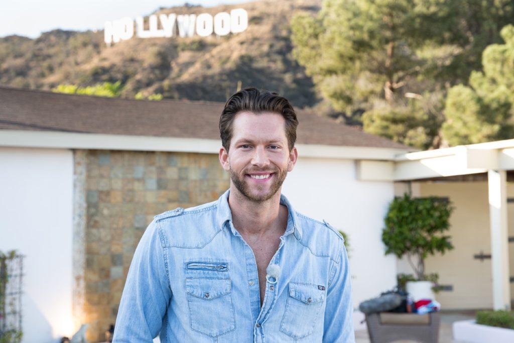 Oliver in den Hollywood-Hills.