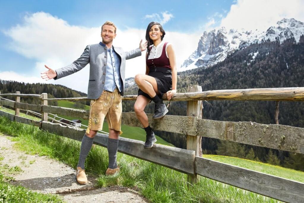 Christian Düren (li.) und Collien Ulmen-Fernandes (re.) freuen sich auf die Promi-Weide.