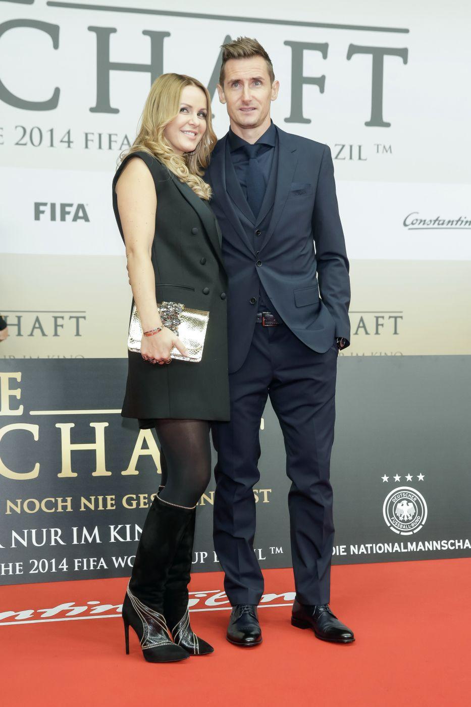 Die Mannschaft Premiere Berlin Miroslav Klose Mit Frau Sylwia Starsontv