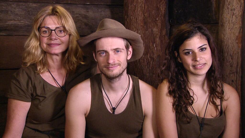 Die drei Finalisten Maren Gilzer (l.), Jörn Schlönvoigt und Tanja Tischewitsch kämpfen um die Dschungelkrone.