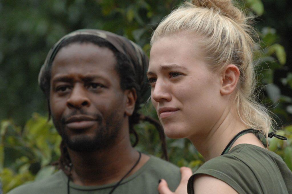 """Tag 7 - Dschungelprüfung 7 """"Hohe Erwartungen""""; Larissa Marolt und Mola Adebisi stehen vor ihrer Dschungelprüfung."""