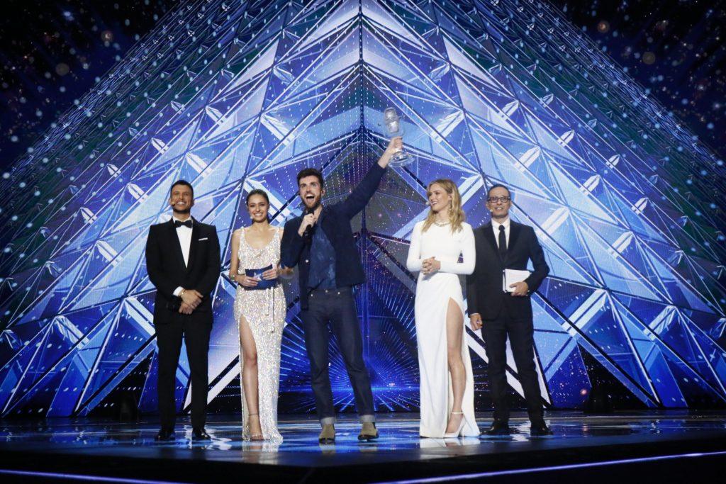 Gewinner Duncan Laurence auf der Bühne des Eurovision Song Contest