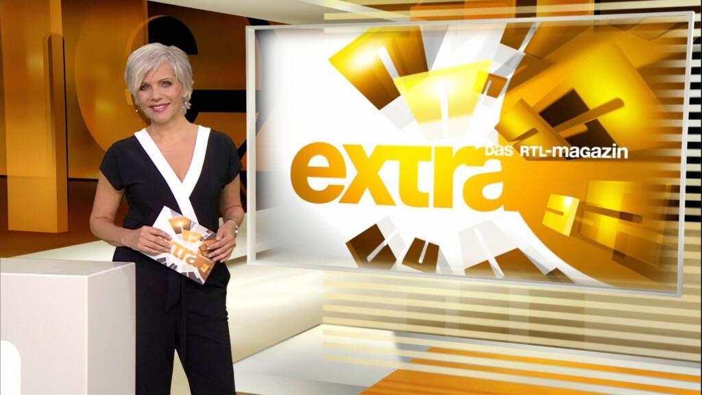 RTL-EXTRA-Moderatorin Birgit Schrowange moderiert seit dem 11.09.2017 mit neuer Haarfarbe.