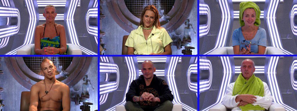 """Das sind die letzten sechs Bewohner im """"Promi Big Brother""""-Haus."""