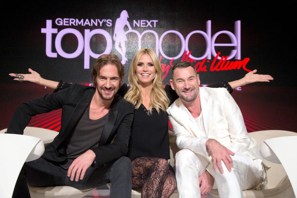 Die neue GNTM-Jury: Heidi Klum (Mitte) sucht mit Michael Michalsky (rechts) und Thomas Hayo (links)