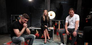 """Gäste bei """"Grill den Henssler"""": Joey Heindle, Roman Weidenfeller und Charlotte Würdig"""