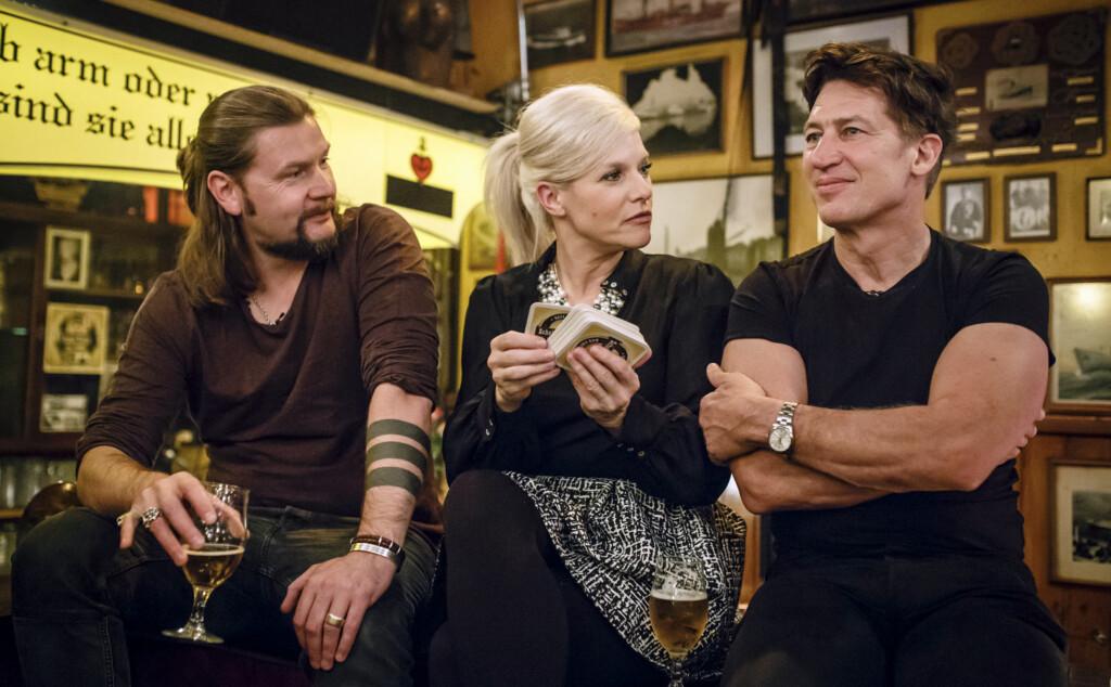 v.l.: Rea Garvey, Ina Müller und Tobias Moretti