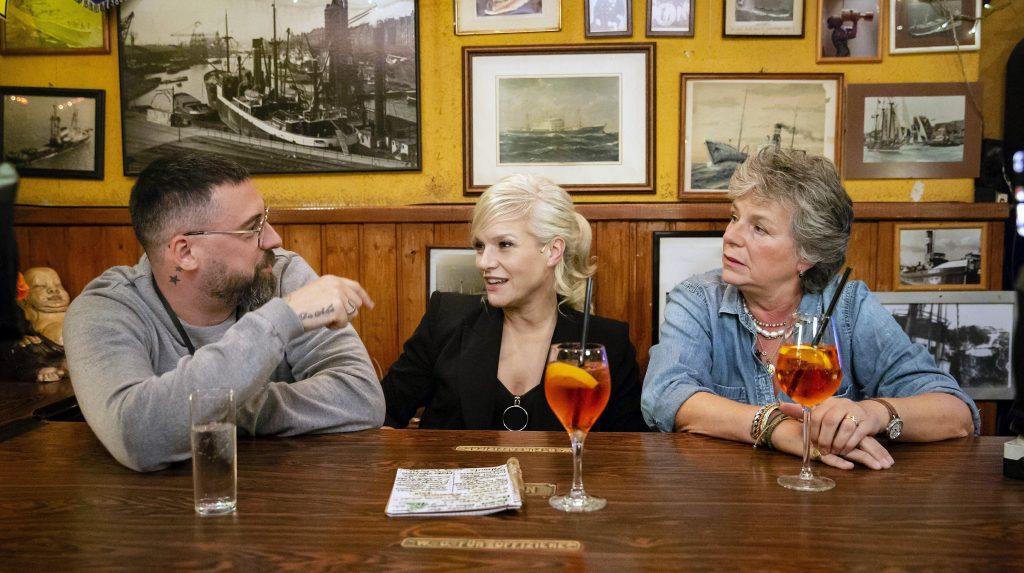 (v.l.n.r.): Sido, Ina Müller, Margie Kinsky.