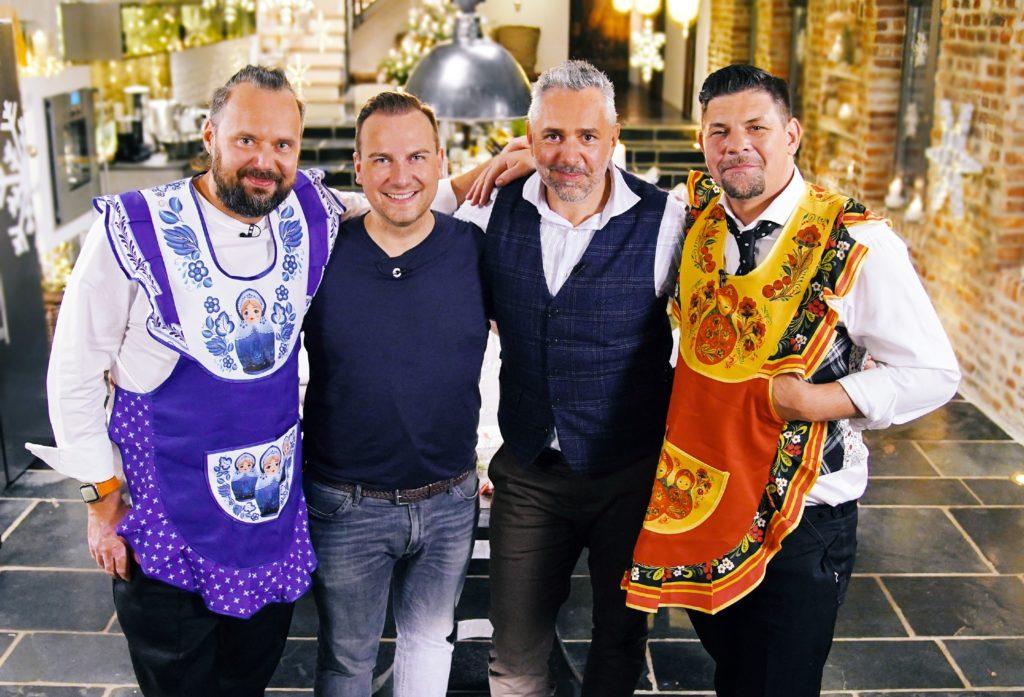 Weihnachten bei den Küchenchefs: Mario Lohninger, Tim Raue, Roland Trettl und Tim Mälzer.
