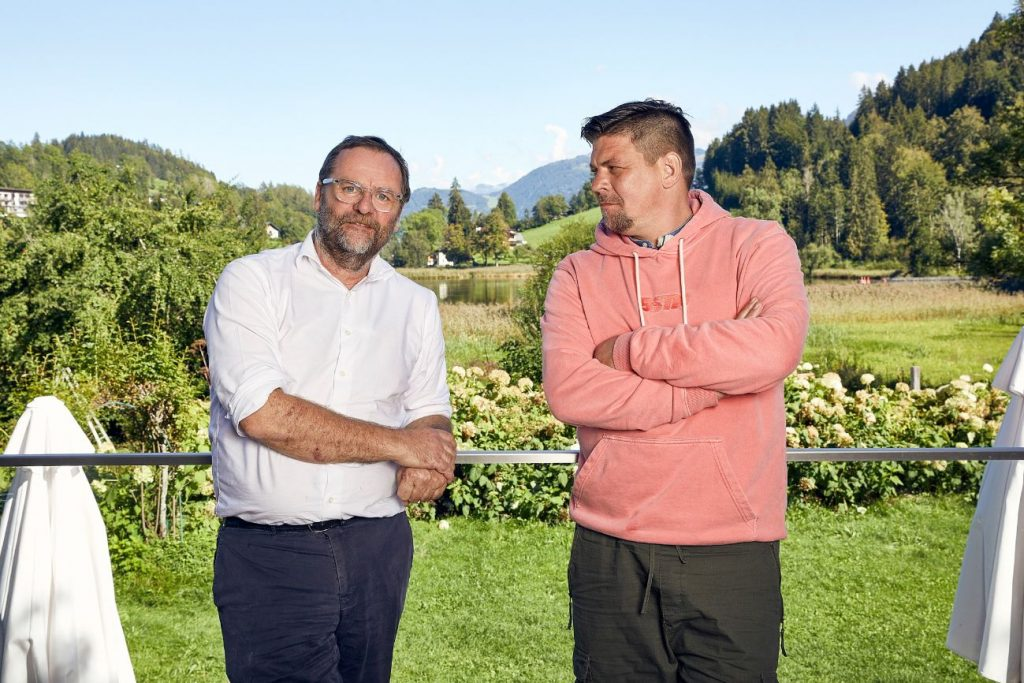 Tim Mälzer (r.) und Sepp Schellhorn.