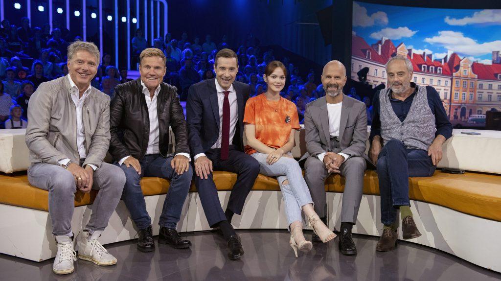 Jörg Pilawa, Dieter Bohlen, Kai Pflaume, Emilia Schüle, Christoph Maria Herbst, Marek Erhardt