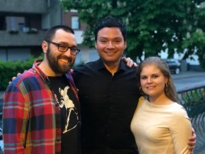 """Johannes Scheit (links, spielte """"Tiger"""" Tom Ziegler) Rechts seine """"Serienschwester"""" Sophie Ziegler (gespielt von Dominique Kusche)"""