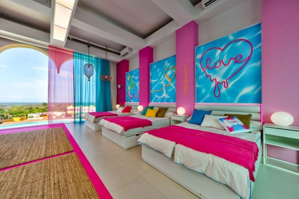 """Das Schlafzimmer in der Villa von """"Love Island"""""""