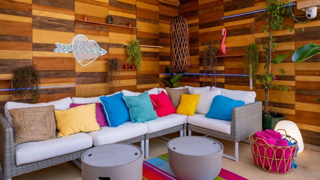 Die Lounge-Area im Innern der Villa