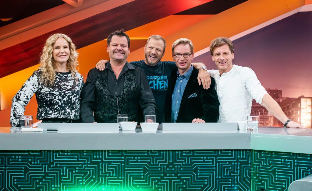 (v.l.) Katja Burkhard, Ingo Appelt, Gastgeber Mario Barth, Reiner Holznagel, Hendrik Duryn