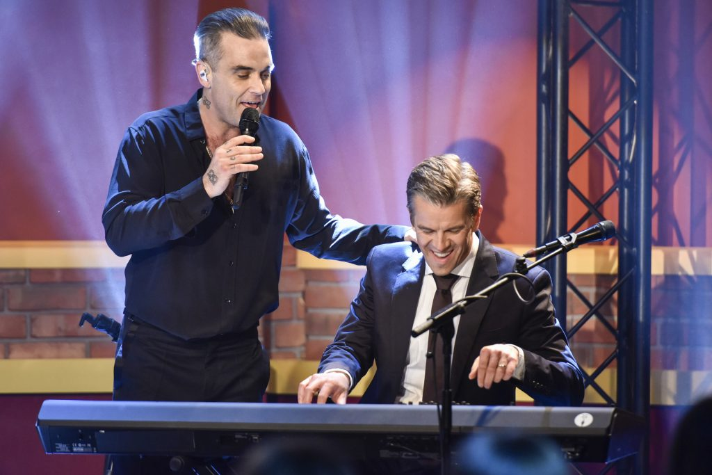 Robbie Williams und Markus Lanz.