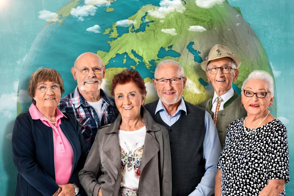 Ruth, Nauke, Marianne, Theo, Ernst und Gisela.