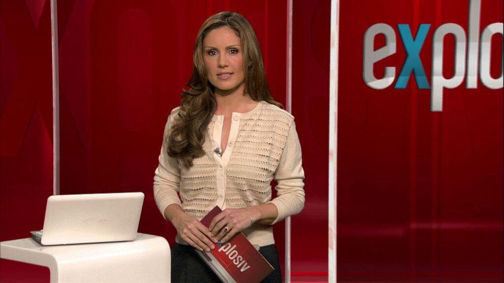 "Nazan Eckes moderiert ""Explosiv - Weekend"" bei RTL."